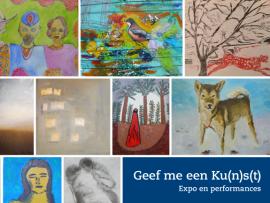 Expo Geef me een Kunst Herstelhuis UPC KU Leuven  9 en 10 oktober 2021